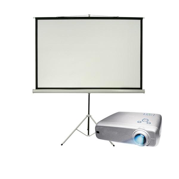 inflatable movie screen with projector