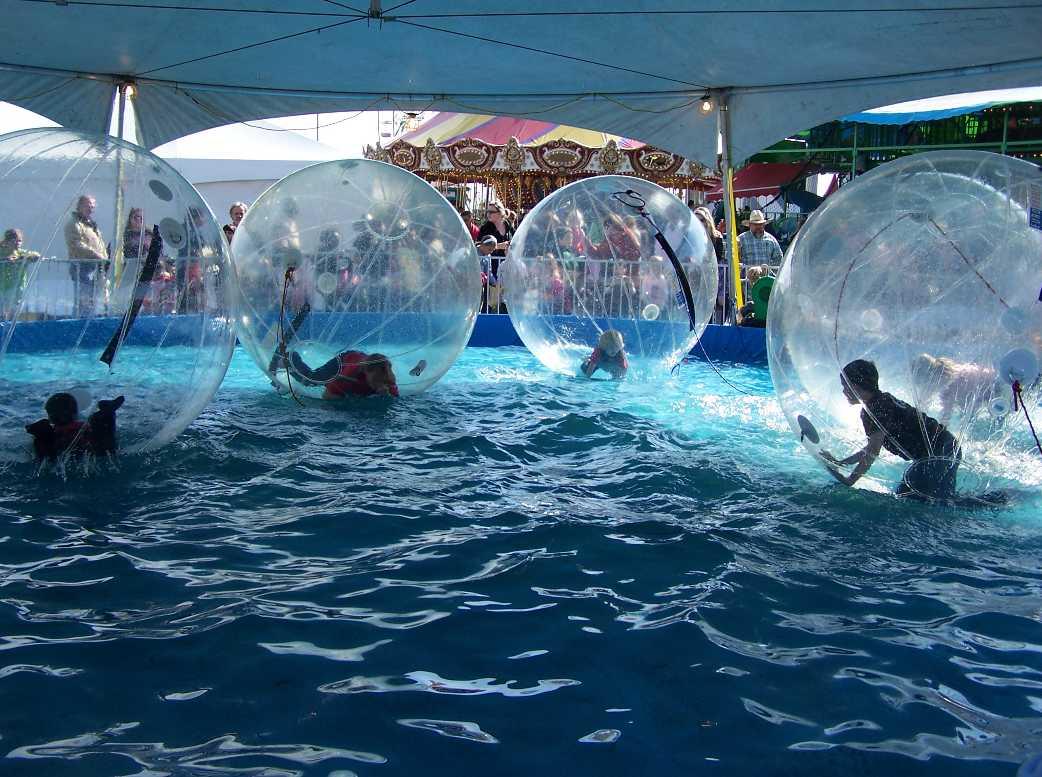 Human Sphere Pool Race